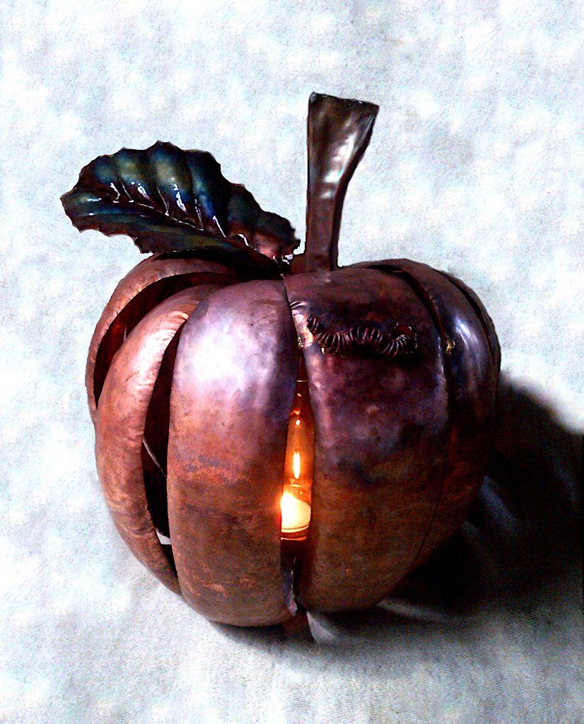 apple lantern sculpture