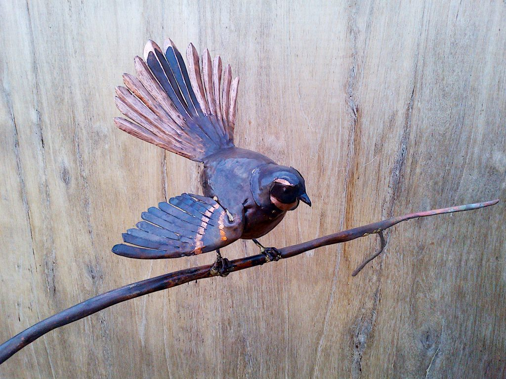 New Zealand fantail sculpture