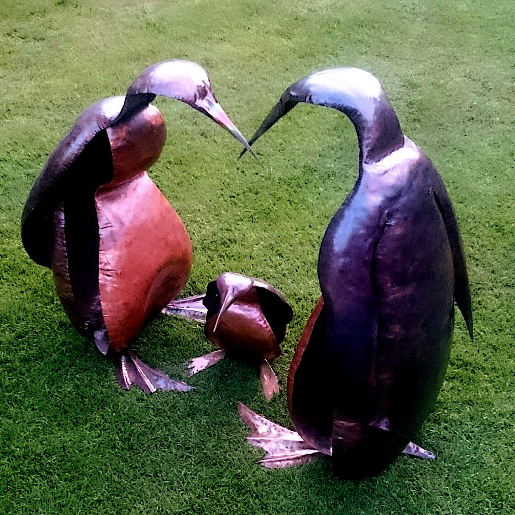 penguin sculptures