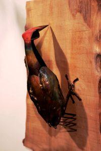 woodpecker sculpture