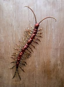 giant centipede sculpture