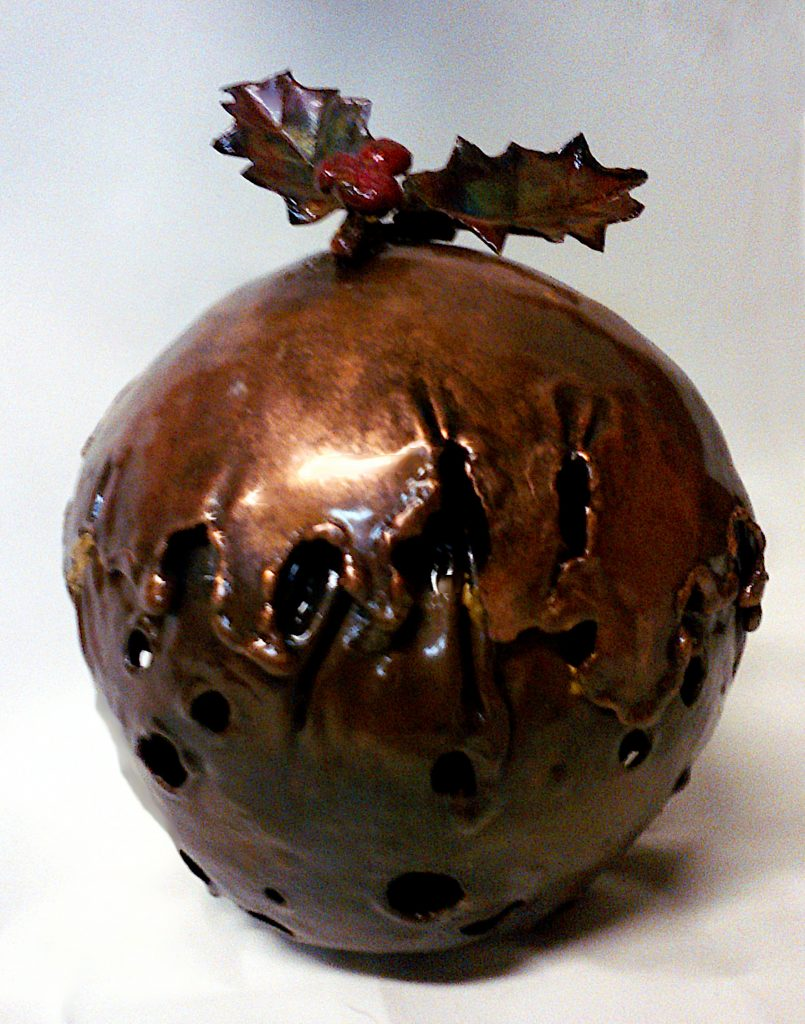 Christmas pudding sculpture