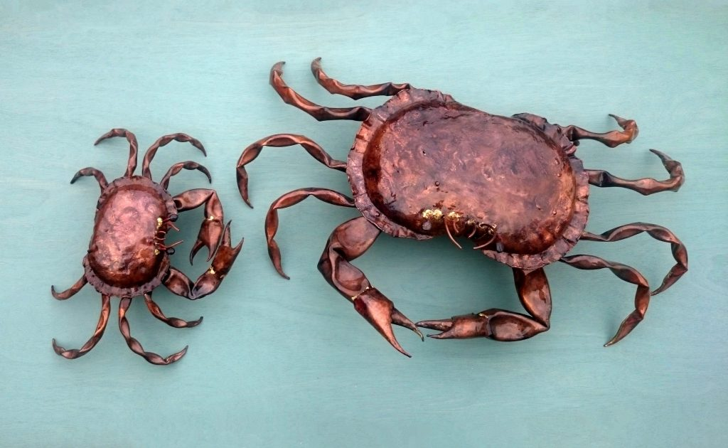 crab sculptures