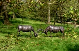 stags in rut sculptures