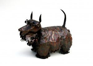 scottie dog sculpture