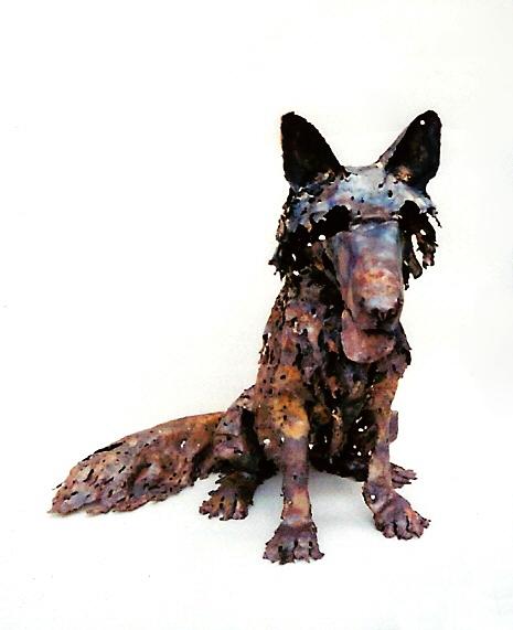 dog wolf sculpture