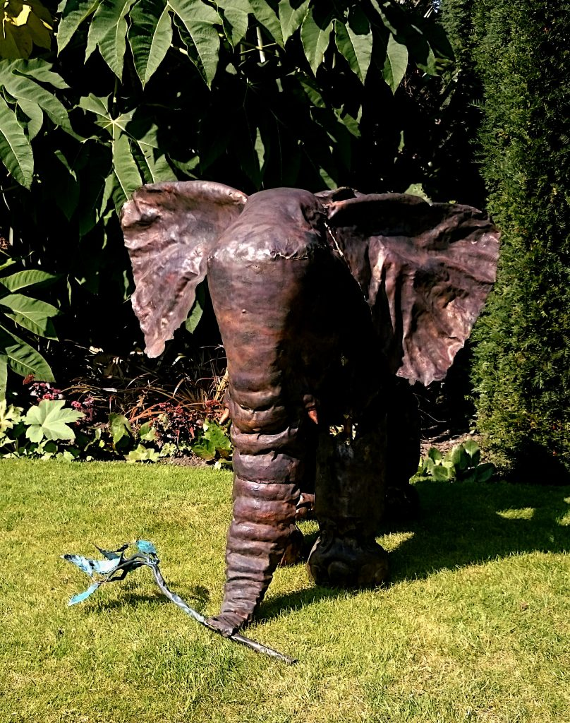elephant calf sculpture