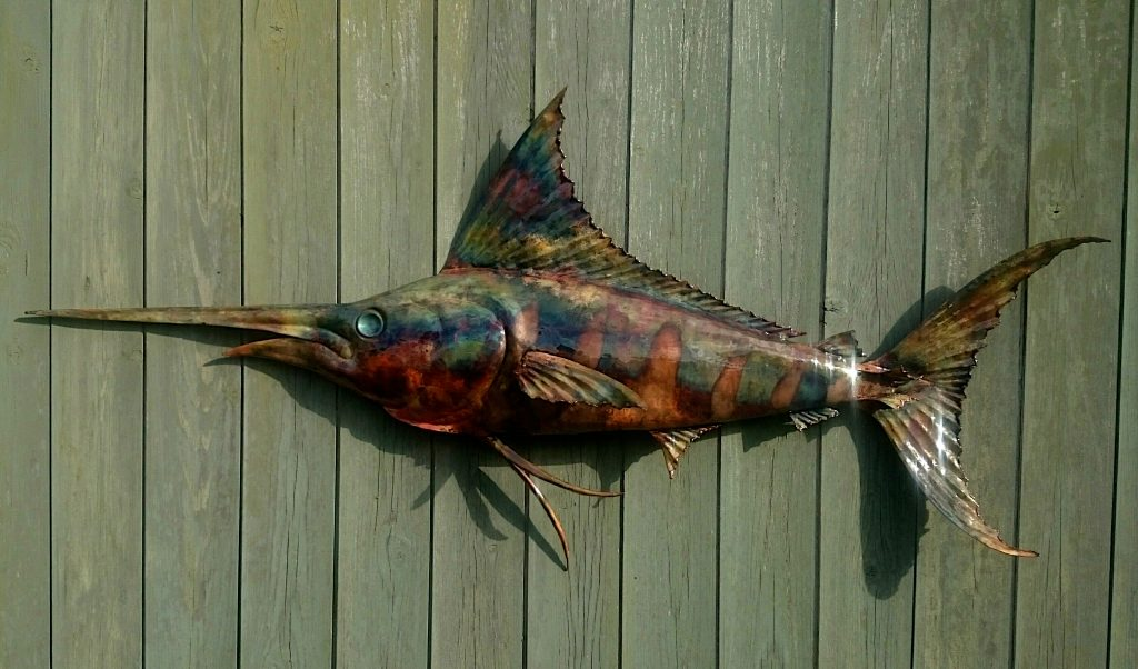 blue marlin sculpture