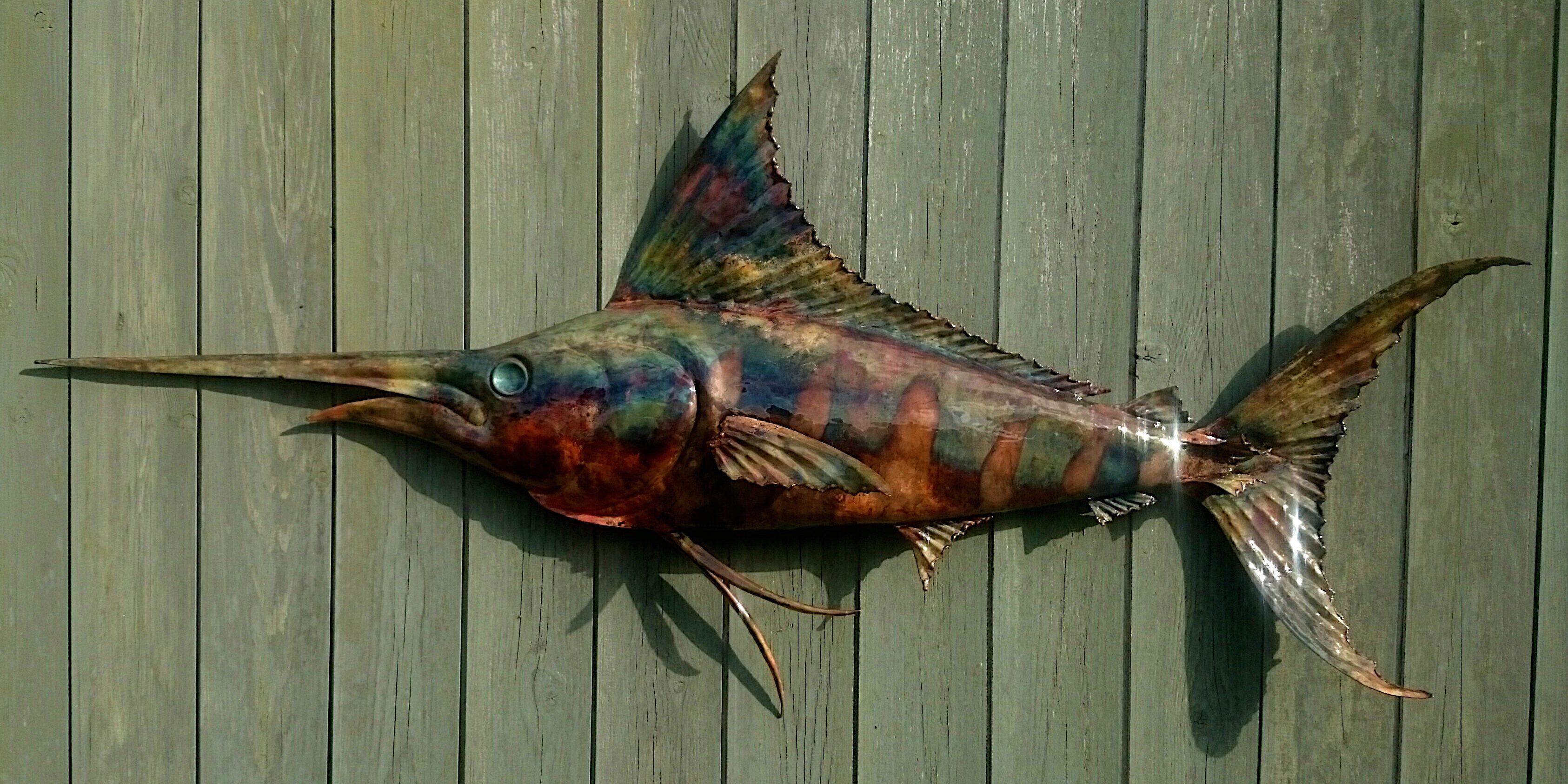 blue marlin sculpture