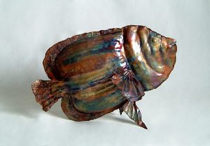 emperor angel fish sculpture