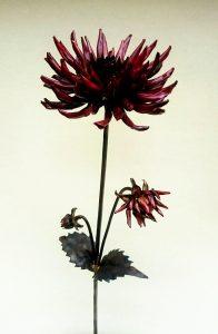 cactus dahlia sculpture