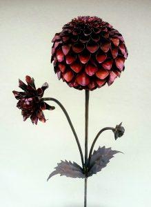 dahlia Pompon sculpture