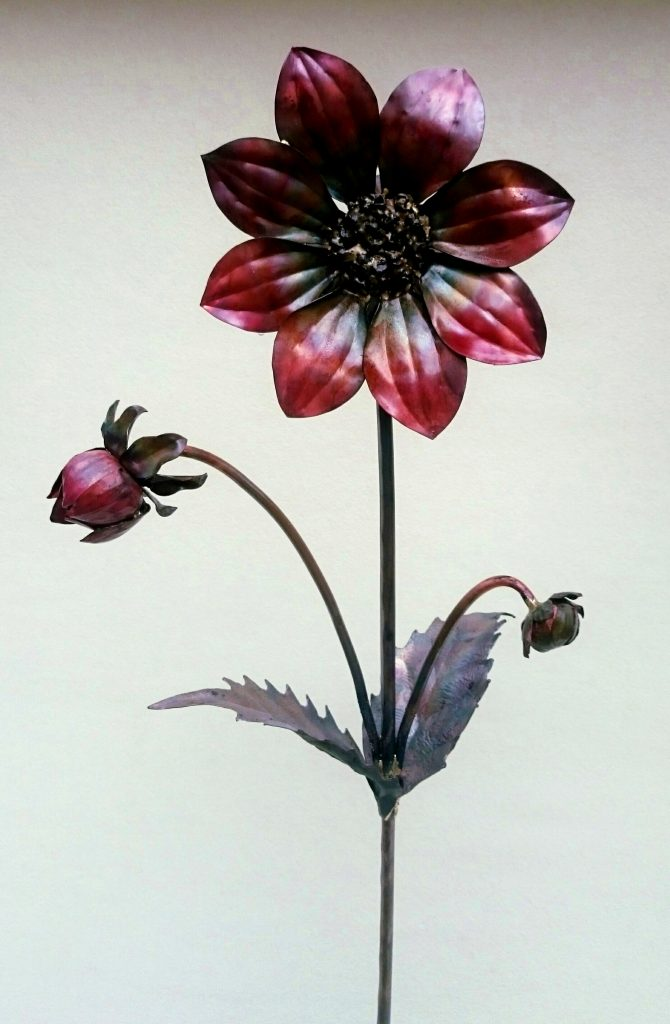 single dahlia sculpture