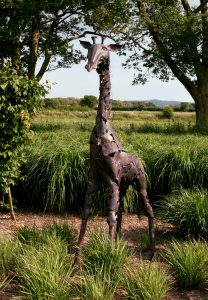 baby giraffe sculpture