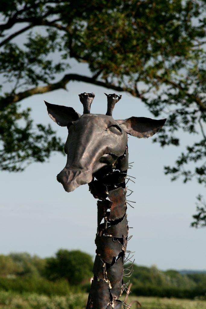 baby giraffe sculpture