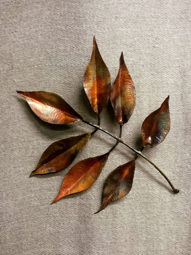 ash leaf sculpture