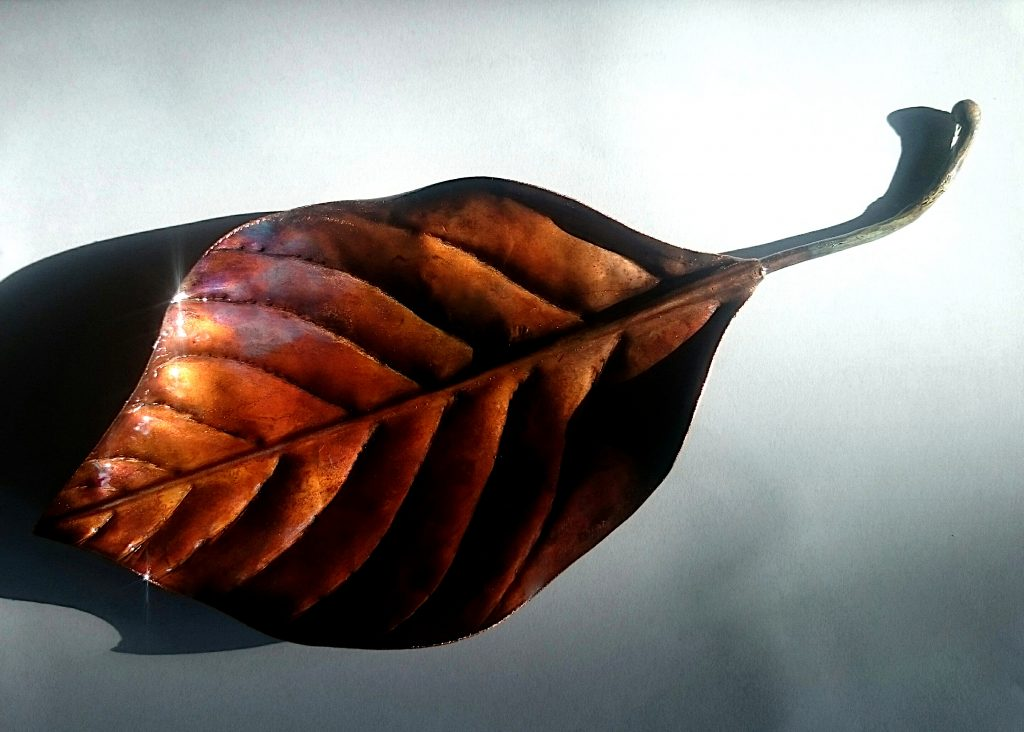 beech leaf sculpture