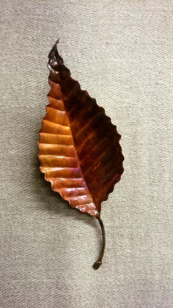 elm leaf sculpture
