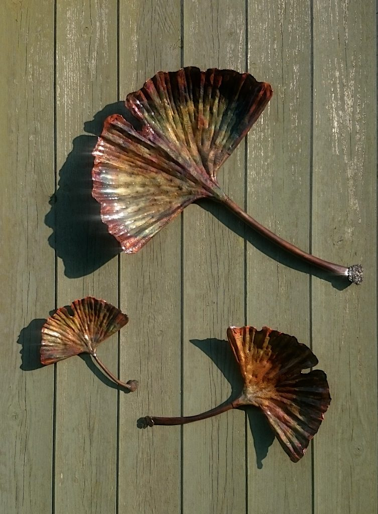 ginkgo leaf sculpture