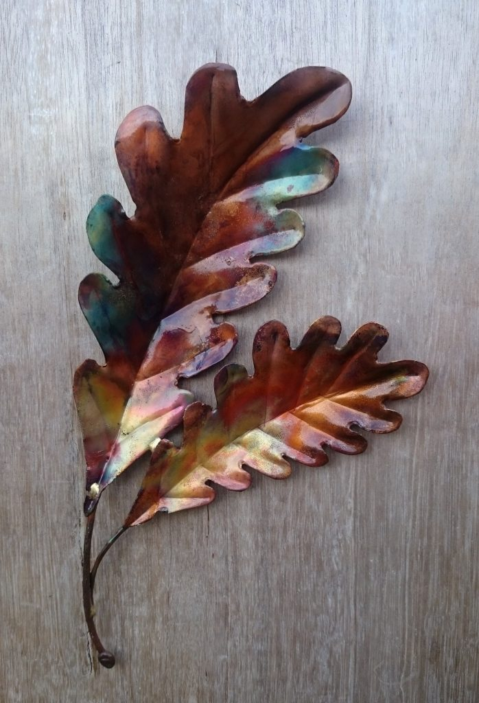oak leaf sculpture