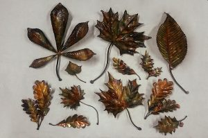 leaf sculpture horse-chestnut sycamore maple holly elm ivy oak