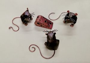 mouse and cheese sculptures