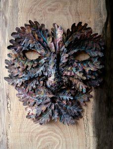 green man leafy face