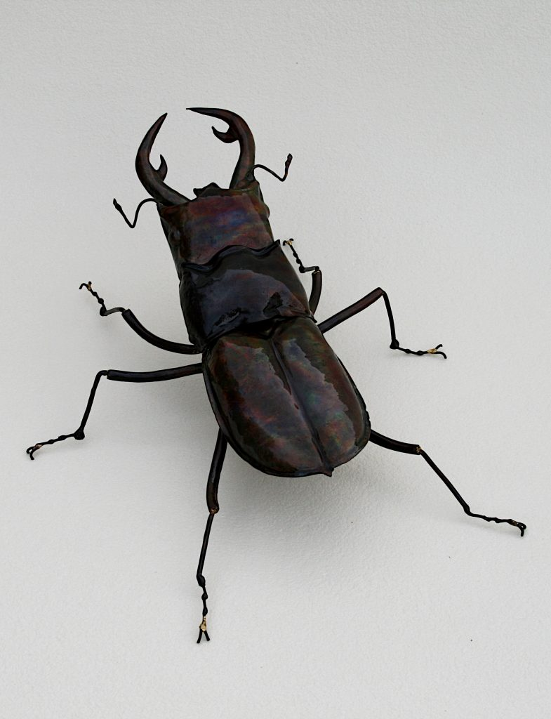stag beetle sculpture