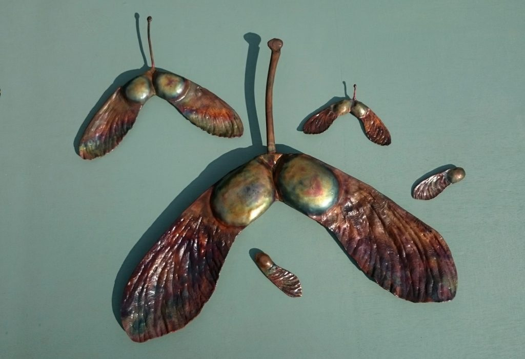 sycamore windmill seed pod sculpture