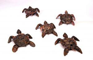 turtle hatchling sculpture