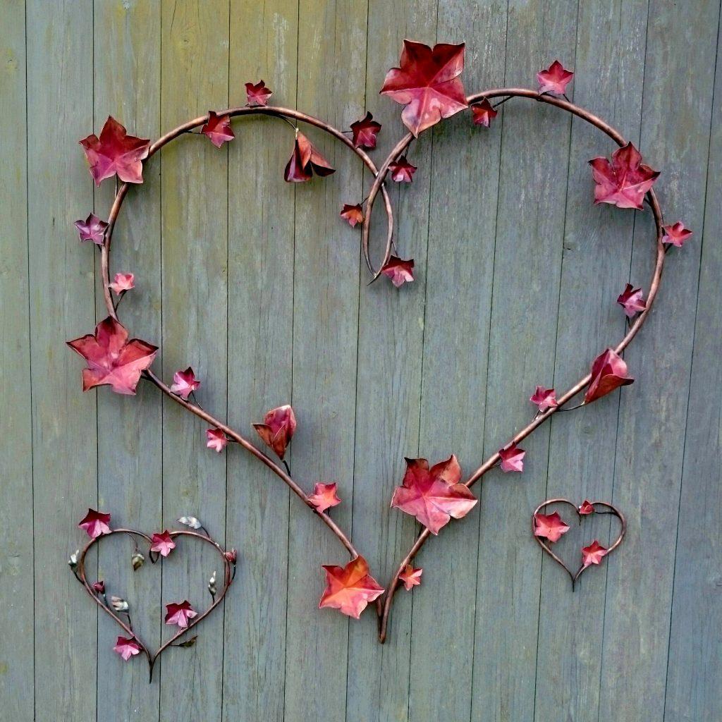 vine heart sculpture