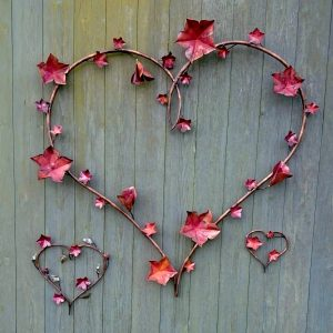 vine heart sculpture