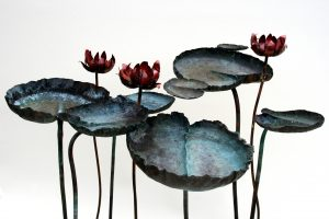 water-lily group sculpture