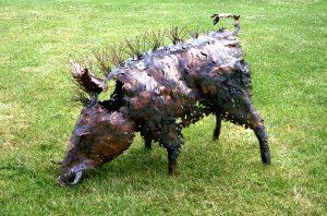 wild boar sculpture