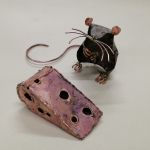 mouse and cheese sculpture