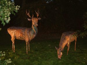 stag and hind doe sculpture
