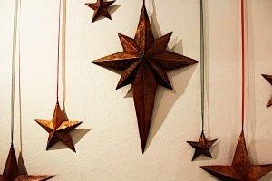 Christmas star sculptures