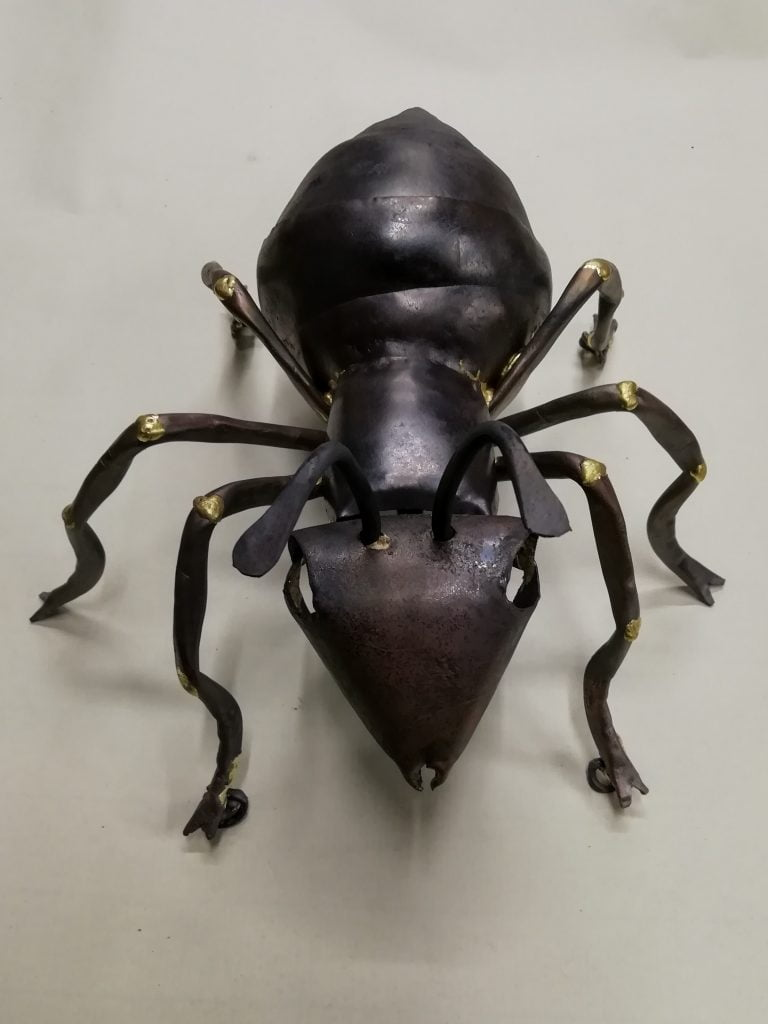 Emily Stone copper ant sculpture