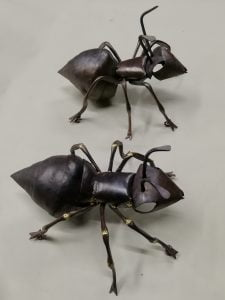 Emily Stone copper ants sculpture