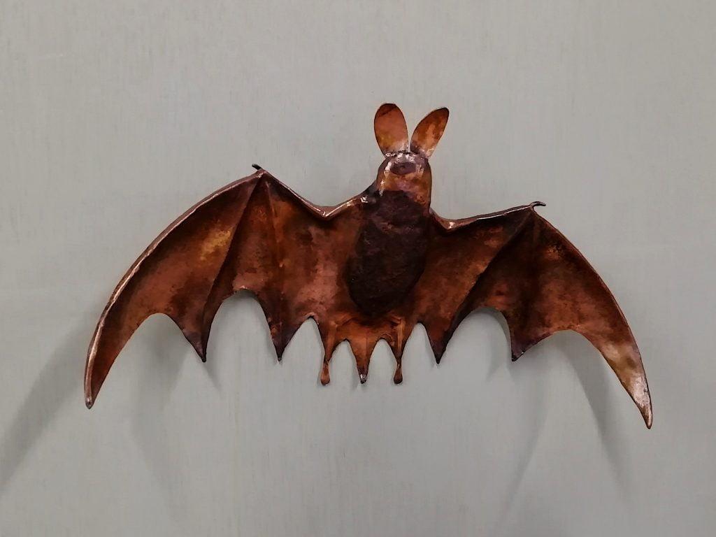 Emily Stone Copper Bat Sculpture
