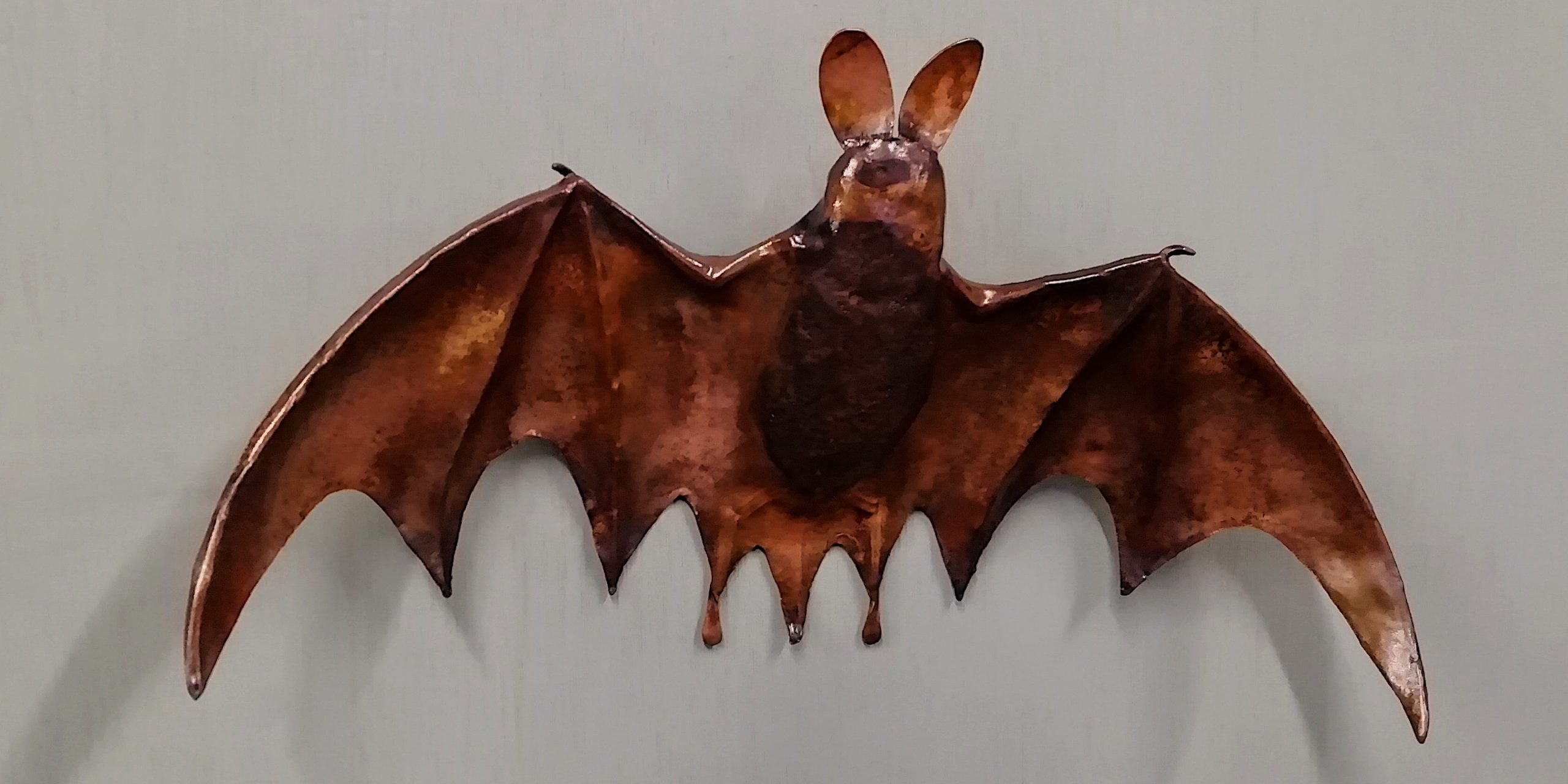 Emily Stone Copper Bat Sculpture