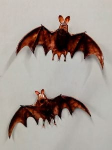 Emily Stone Copper Bat Sculpture 2