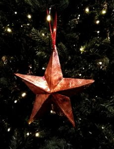 Christmas star sculptures