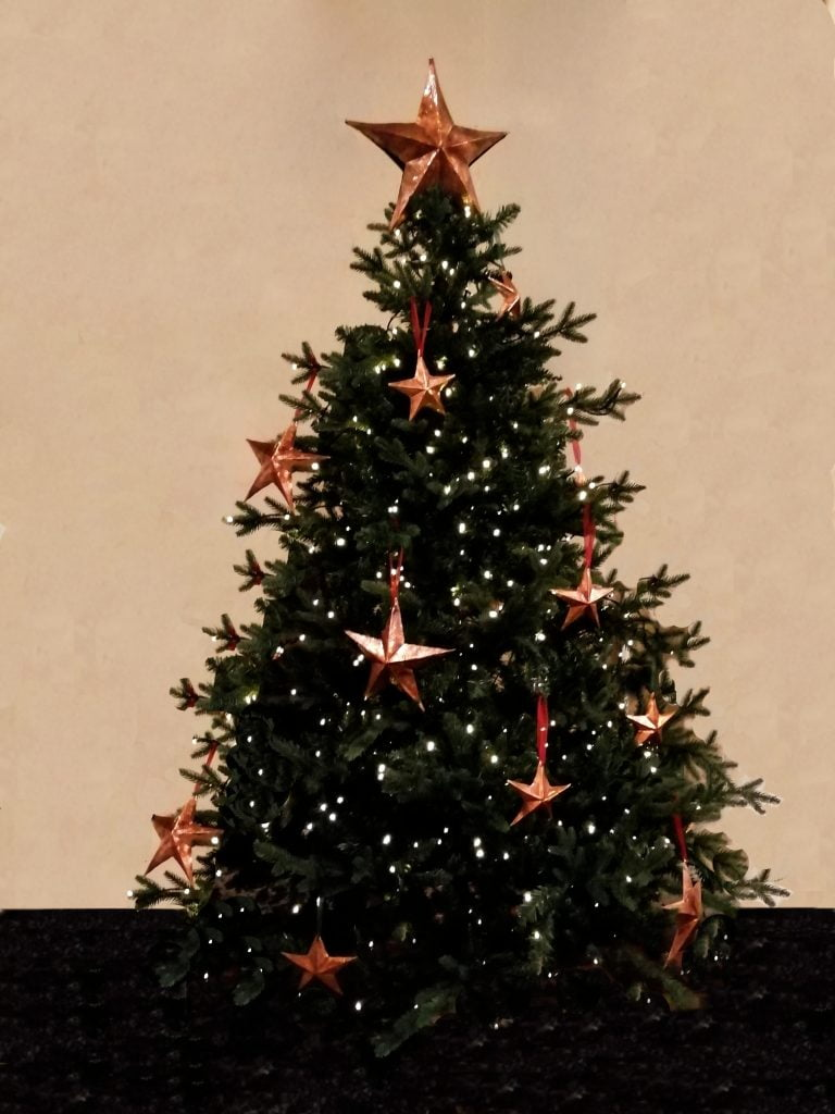 Emily Stone Copper Christmas Tree Stars Sculpture