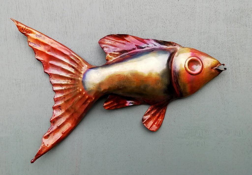 Emily Stone Copper Fish Sculpture 9