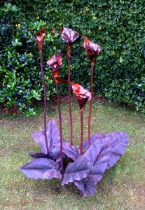Emily Stone Copper Flower Arum Lily Sculpture