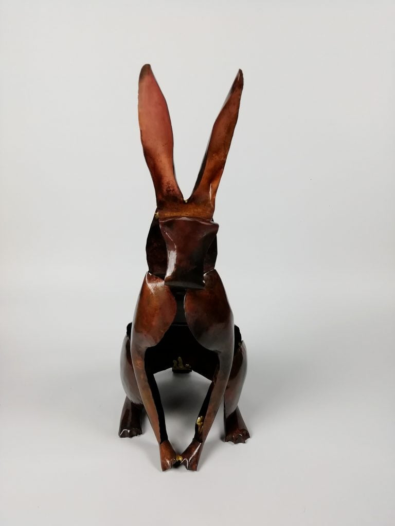 Emily Stone Copper Rabbit Sculpture