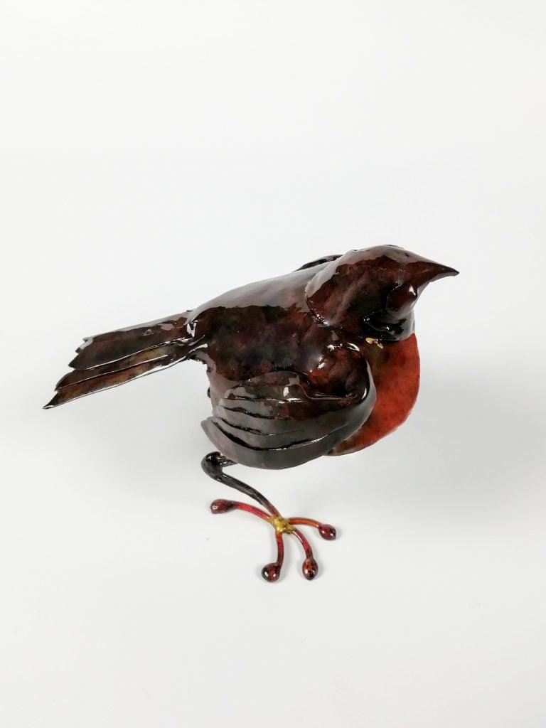 Emily Stone Copper Robin Sculpture