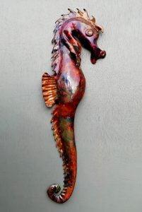 Emily Stone Copper Seahorse Sculpture Small