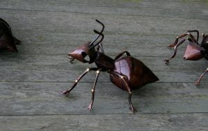 Emily Stone Copper Ant Worker Sculpture 2